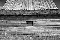 Side of the famous Moulton Barn in Jackson Hole, Wyoming.