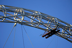 UK ENGLAND LONDON 28FEB06 - Detail view of the giant arch above Wembley National Stadium construction site at Wembley, west London. The Wembley stadium reconstruction project, undertaken by Australian contractor Multiplex is running behind schedule and over-budget. The British Football Association has decided to relocate the 2006 FA cup to Cardiff amid fears that the project will not be completed on time...jre/Photo by Jiri Rezac..© Jiri Rezac 2006..Contact: +44 (0) 7050 110 417.Mobile:  +44 (0) 7801 337 683.Office:  +44 (0) 20 8968 9635..Email:   jiri@jirirezac.com.Web:    www.jirirezac.com..© All images Jiri Rezac 2006 - All rights reserved.