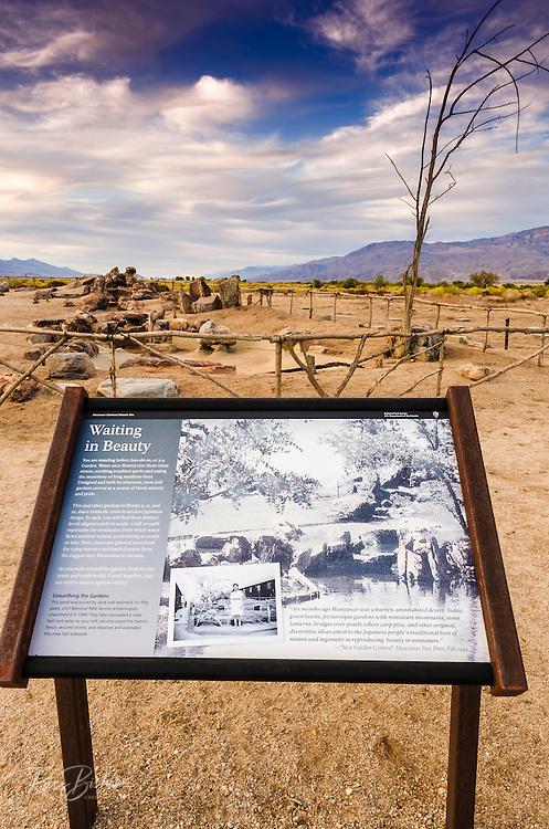 Japanese garden site, Manzanar National Historic Site, Lone Pine, California USA