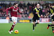 Northampton Town Striker Ricky Holmes during the Sky Bet League 2 match between Northampton Town and Morecambe at Sixfields Stadium, Northampton, England on 23 January 2016. Photo by Dennis Goodwin.