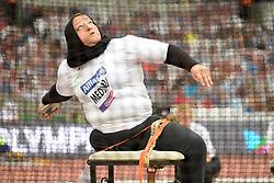 15/07/2017 : Nadia Medjmedj (ALG), F57, Women's Discus, at the 2017 World Para Athletics Championships, Olympic Stadium, London, United Kingdom