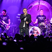 WASHINGTON, DC - November 30th, 2017 - Morrissey (center) performs at The Anthem in Washington, D.C. with bassist Mando Lopez and drummer Matt Walker. (Photo by Kyle Gustafson / For The Washington Post)
