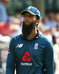 July 14, 2018 - London, Greater London, United Kingdom - England's Moeen Ali .during 2nd Royal London One Day International Series match between England and India at Lords Cricket Ground, London, England on 14 July 2018. (Credit Image: © Action Foto Sport/NurPhoto via ZUMA Press)