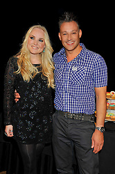 KERRY ELLIS and TOBY ANSTIS at the 5th annual West End Eurovision in aid of the make A Difference Trust held at The Dominion Theatre, London on 26th April 2012.