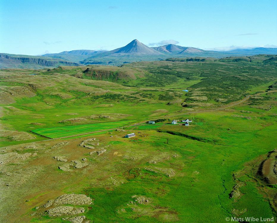 Arnbjargarlækur séð til norðurs, Borgarbyggð áður Þverárhlíðarhreppur / Arnbjargarlaekur viewing north, Borgarbyggdf former Thverarhlidarhreppur.