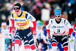March 10, 2018 - Oslo, NORWAY - 180310 Johannes Høsflot Klæbo and Martin Johnsrud Sundby of Norway in men's 50 km free technique during FIS Cross-Country World Cup on March 10, 2018 in Oslo..Photo: Jon Olav Nesvold / BILDBYRÃ…N / kod JE / 160214 (Credit Image: © Jon Olav Nesvold/Bildbyran via ZUMA Press)