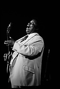 BB King performing in Hammersmith, London, UK, 1980s.