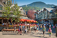 Whistler Village bustles with activity and visitors during the summer, 2010