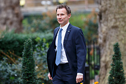 © Licensed to London News Pictures. 14/03/2017. London, UK. Health Secretary JEREMY HUNT attends a cabinet meeting in Downing Street, London on Tuesday, 14 March 2017. Photo credit: Tolga Akmen/LNP