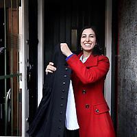 """Nederland, Amsterdam , 24 april 2014.<br /> Strafrechtadvocate Rachida El Hessaini voor de rubriek """"onderweg met"""" in het Advocatenblad.<br /> Foto:Jean-Pierre Jans"""