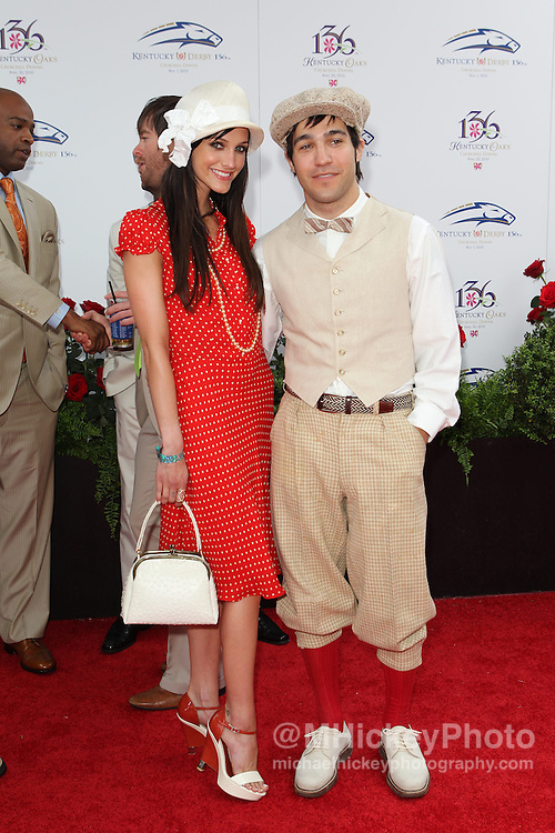 Ashlee Simpson and Pete Wentz seen at the Kentucky Derby in Louisville, Kentucky.