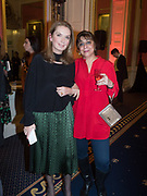 NANCY SLADEK; LADY NADIRA NAIPAUL, Literary Review Christmas drinks and  Bad Sex in fiction Awards, In and Out club. St. James's Sq. London. 30 November 2017
