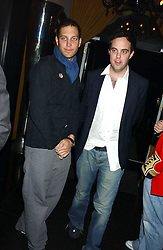 Left to right, LORD FREDERICK WINDSOR and LORD BUCKHURST at a party to celebrate the publication of Tatler's Little Black Book 2005 held at the Baglioni Hotel, 60 Hyde Park Gate, London SW7 on 9th November 2005.<br /><br />NON EXCLUSIVE - WORLD RIGHTS