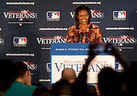 First Lady Michelle Obama visits with United States Veterans at The James J. Peters VA Medical Center in The Bronx, NY. (Photo by Robert Caplin)