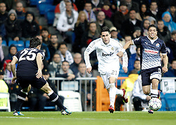 22.11.2011, Estadio Santiago Bernabeu, Madrid, ESP, UEFA CL, Gruppe D, Real Madrid (ESP) vs Dinamo Zagreb (CRO) im Bild Real Madrid's Jose Callejon against Dinamo Zagreb's Luis Ibanez // during the football match of UEFA Champions league, group D, between Real Madrid (ESP) and Dinamo Zagreb (CRO) at Santiago Bernabeu Stadium, Madrid, Spain on 2011/11/22. EXPA Pictures © 2011, PhotoCredit: EXPA/ Alterphotos/ Alvaro Hernandez..***** ATTENTION - OUT OF ESP and SUI *****