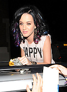 01.SEPTEMBER.2010. LONDON<br /> <br /> KATY PERRY LEAVING ITV STUDIOS IN LONDON EATING A BANANA AND SIGNING AUTOGRAPHS FOR HER FANS.<br /> <br /> BYLINE: EDBIMAGEARCHIVE.COM<br /> <br /> *THIS IMAGE IS STRICTLY FOR UK NEWSPAPERS AND MAGAZINES ONLY*<br /> *FOR WORLD WIDE SALES AND WEB USE PLEASE CONTACT EDBIMAGEARCHIVE - 0208 954 5968*