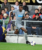 Newcastle United's Sammy Ameobi against Sydney FC in the first match of the Football United Tour at Forsyth Barr Stadium, Dunedin, New Zealand, Tuesday, July 22, 2014.