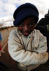 Local kid in Rocklands a Township outside of Bloemfontein South Africa on 23 June 2009, during the 2009 Confederations cup in South Africa. Photo:Gerhard Steenkamp/Superimage Media