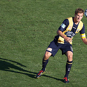 Alex Wilkinson in action during the Central Coast Mariners V Brisbane Roar A-League match at Bluetongue Stadium, Gosford, Australia, 19 December 2009. Photo Tim Clayton