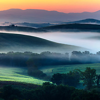 Tuscany valley at spring time
