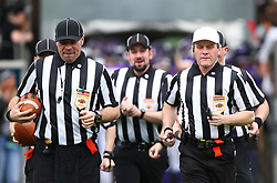 01.04.2017, Tivoli Stadion, Innsbruck, AUT, AFL, Swarco Raiders Tirol vs Dacia Vikings Vienna, im Bild Referee Team // during the Austrian Football League game between Swarco Raiders Tirol and Dacia Vikings Vienna at the Tivoli Stadion, Innsbruck, Austria on 2017/04/01. EXPA Pictures © 2017, PhotoCredit: EXPA/ Thomas Haumer
