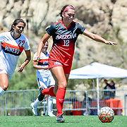 Exhibition game between the Arizona Wildcats vs UTEP Lady Miners Women's Soccer, University Field, El Paso Tx August 13, 2017