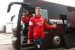 Aden Flint of Bristol City arrives at Barnsley - Mandatory by-line: Robbie Stephenson/JMP - 30/03/2018 - FOOTBALL - Oakwell Stadium - Barnsley, England - Barnsley v Bristol City - Sky Bet Championship