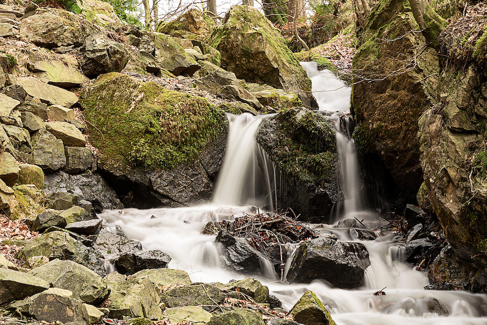 A Waterfall In Tom Gill, Tarn Hows in the English Lake district