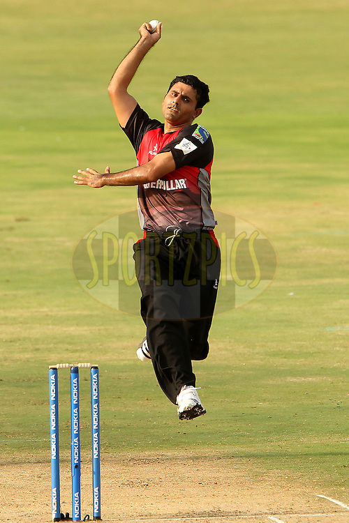 A Razzaq during the CLT20 - Q3 match between Trinidad and Tobago and Leicestershire Foxes held at the Rajiv Gandhi International Stadium, Hyderabad on the 20th September 2011..Photo by Ron Gaunt/BCCI/SPORTZPICS