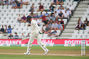 Keaton Jennings of England trudges off after being caught behind during the 3rd International Test Match 2018 match between England and India at Trent Bridge, West Bridgford, United Kingdon on 21 August 2018.