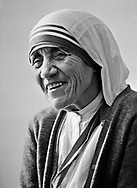 Mother Teresa <cq>, the Catholic nun who was leader of the Missionaries of Charity order, photographed in Louisville,  KY, June 22, 1982.   She was honored for her lifelong work in a ceremony at Bellarmine College in Louisville, KY.  Pope John Paul II, during the celebration of his 25 years as leader of the world's Catholic religion, will likely beatifiy Mother Teresa.