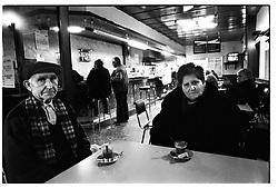 Alca&ntilde;iz,Teruel,Spain.<br /> A marriage in the bar of the bus station.&copy;Carmen Secanella