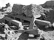 Section of portico of a Minaean temple, as yet unexcavated in 1985