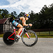 Angela Naeth at mile 35 of Ironman Chattanooga.