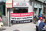 Ander Herrera Midfielder of Manchester United flag before the Europa League semi final game 1 match between Celta Vigo and Manchester United at Balaidos, Vigo, Spain on 4 May 2017. Photo by Phil Duncan.