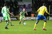 Forest Green Rovers Charlie Clough(5) runs forward during the Vanarama National League match between Forest Green Rovers and Torquay United at the New Lawn, Forest Green, United Kingdom on 1 January 2017. Photo by Shane Healey.