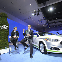 Ford Fulion Energi with PlantBottle interior at the LA Auto Show in Los Angeles, Thursday , Nov. 21,  2013.(Eric Reed/For Coca-Cola)