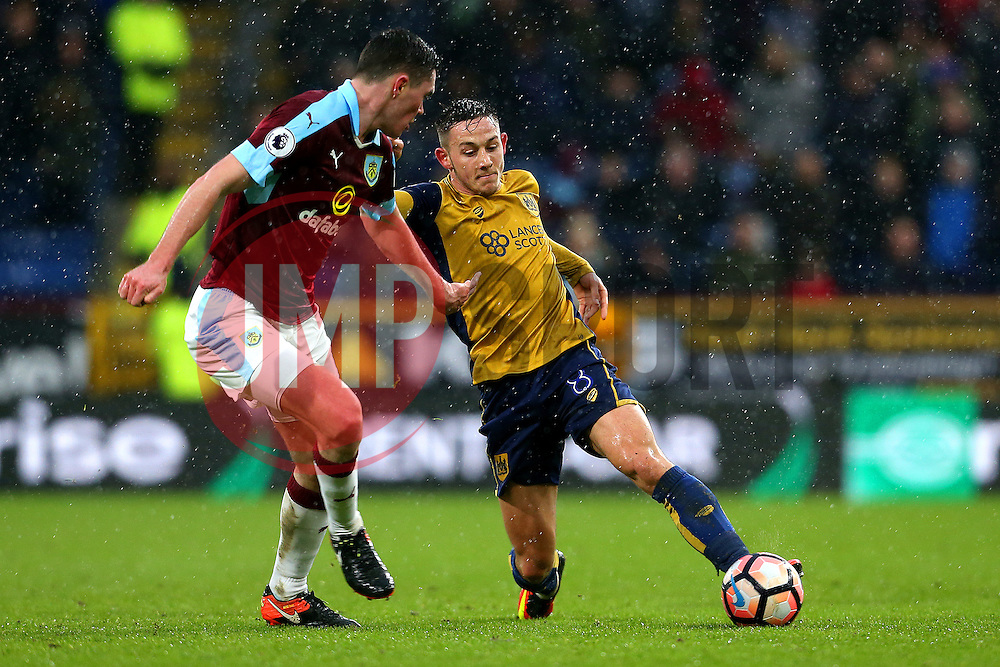 Josh Brownhill of Bristol City takes on Michael Keane of Burnley - Mandatory by-line: Matt McNulty/JMP - 28/01/2017 - FOOTBALL - Turf Moor - Burnley, England - Burnley v Bristol City - Emirates FA Cup fourth round