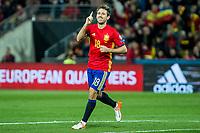 Spain's Nacho Monreal  during the match of European qualifying round between Spain and Macedonia at Nuevo Los Carmenes Stadium in Granada, Spain. November 12, 2016. (ALTERPHOTOS/Rodrigo Jimenez)