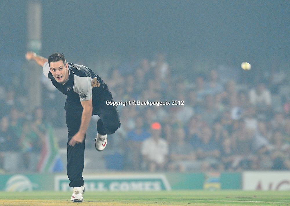 Mitchell McClenaghan of New Zealand during the 2012 KFC T20 International between South Africa and New Zealand at Buffalo Park in East London, South Africa on December 23, 2012 ©Barry Aldworth/BackpagePix