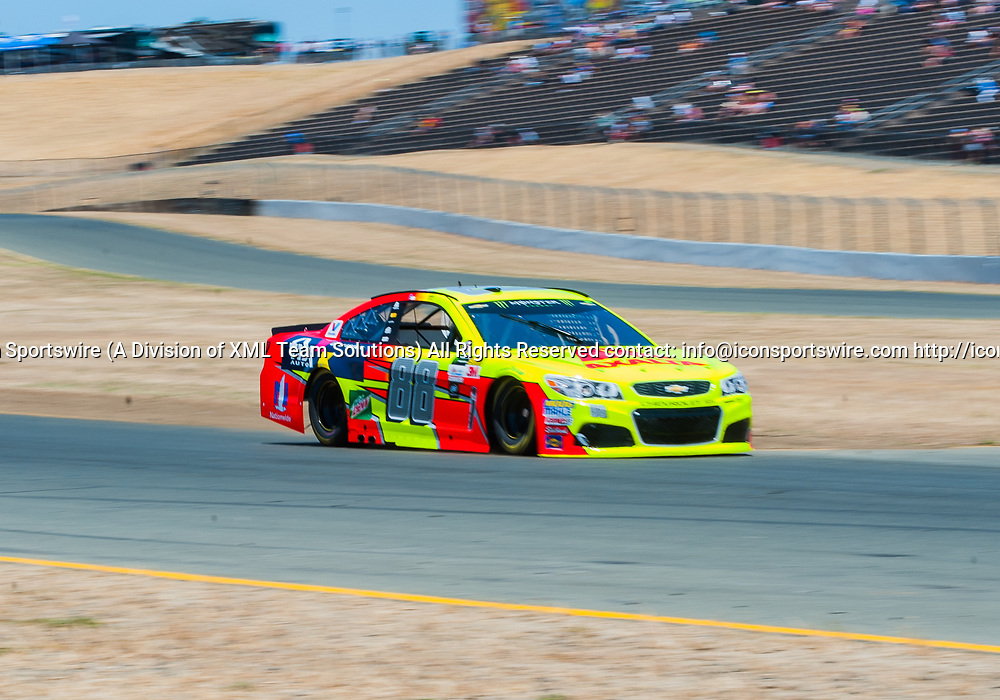 SONOMA, CA - JUNE 24 :Monster Energy NASCAR Cup Series driver Dale Earnhardt Jr. (88) during qualifying at the NASCAR Monster Energy Cup Series- Toyota/Save Mart 350 at Sonoma Raceway  in Sonoma,CA on June 24rd, 2017 (Photo by Samuel Stringer/Icon Sportswire)