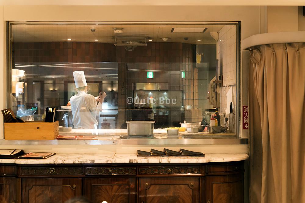 Western style restaurant in the Bunkamura district of  Shibuya Tokyo Japan
