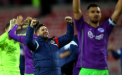 Bristol City head coach Lee Johnson celebrates the win over Sunderland - Mandatory by-line: Robbie Stephenson/JMP - 28/10/2017 - FOOTBALL - Stadium of Light - Sunderland, England - Sunderland v Bristol City - Sky Bet Championship