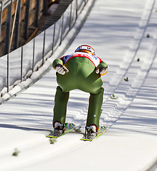 06.02.2011, Heini Klopfer Skiflugschanze, Oberstdorf, GER, FIS World Cup, Ski Jumping, Teamwettbewerb, Probedurchgang, im Bild Denis Kornilov (RUS) , during ski jump at the ski jumping world cup Trail round in Oberstdorf, Germany on 06/02/2011, EXPA Pictures © 2011, PhotoCredit: EXPA/ P. Rinderer