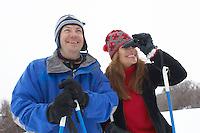 Skier Looking Through Binoculars