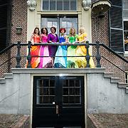 NLD/Baarn/20140423 - Perspresentatie Prinsessia, cast, Desiree Viola, Helle Vanderheyden, Sylvia Boone, Jolijn Henneman en Fauve Celeste en Bettina Berger