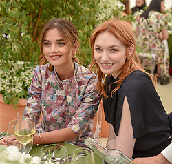 Jenna Coleman and Eleanor Tomlinson at the Cartier Queen's Cup Polo 2019 held at Guards Polo Club, Windsor, Berkshire. UK 16 June 2019. <br /> <br /> Photo by Dominic O'Neill/Desmond O'Neill Features Ltd.  +44(0)7092 235465  www.donfeatures.com