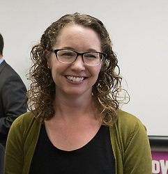 May 2, 2017 - Placentia, California, USA - Tiffany Badger earned a Teacher of the Year award in Placentia, California, on Tuesday, May 2, 2017. ..Badger, a high school English teacher at El Dorado High School, is one of six teachers who were surprised with the honor by county superintendent of school Dr. Al Mija?res. ..(Photo by Jeff Gritchen, Orange County Register/SCNG) (Credit Image: © Jeff Gritchen, Jeff Gritchen/The Orange County Register via ZUMA Wire)