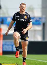 Sam Simmonds of Exeter Braves warms up- Mandatory by-line: Nizaam Jones/JMP - 22/04/2019 - RUGBY - Sandy Park Stadium - Exeter, England - Exeter Braves v Saracens Storm - Premiership Rugby Shield