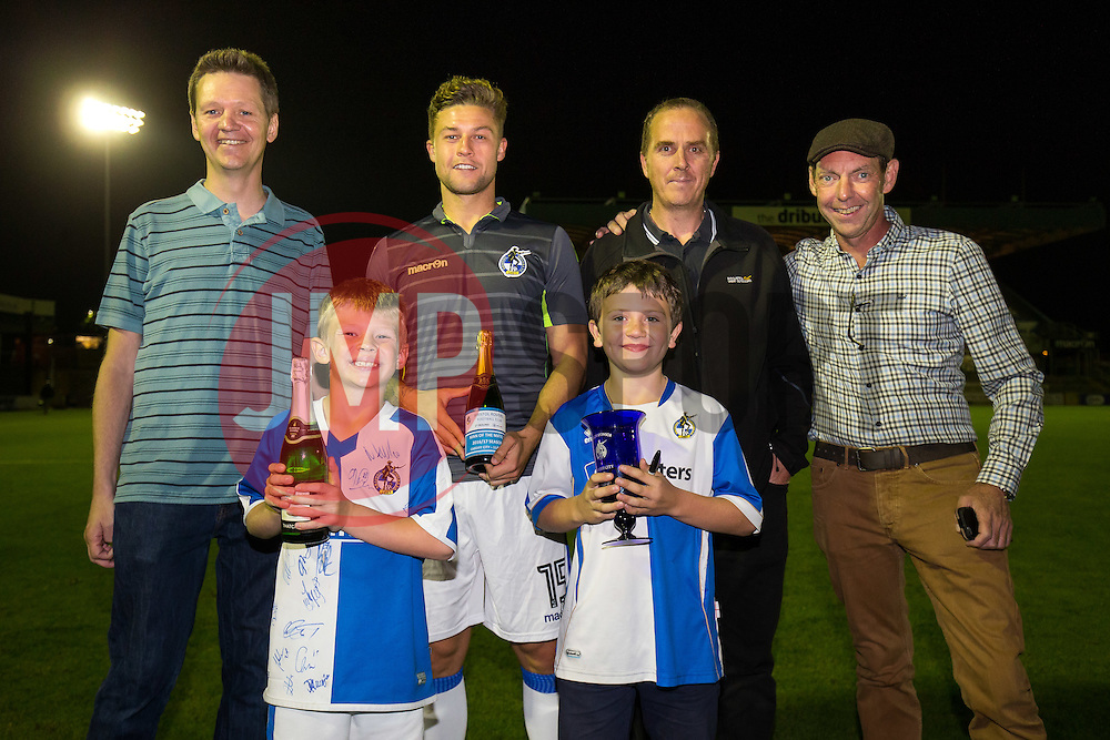 Man of teh Match Presentation to James Clarke of Bristol Rovers - Rogan Thomson/JMP - 11/08/2017 - FOOTBALL - Memorial Stadium - Bristol, England - Bristol Rovers v Cardiff City - EFL Cup First Round.